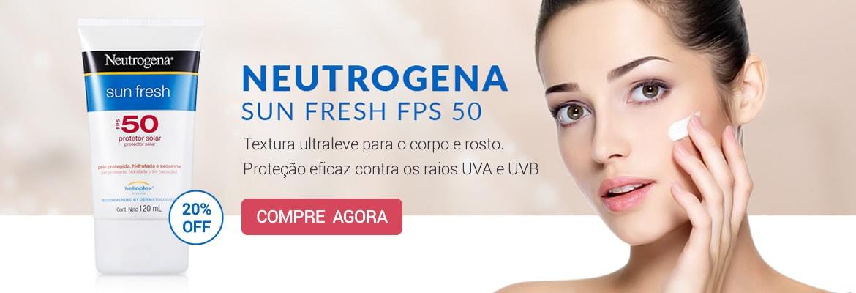 Compre Neutrogena Sun Fresh 50 FPS com até 20% de desconto!