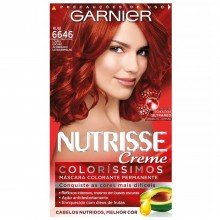 Tintura Garnier Nutrisse Coloríssimos Kit Cor 6646 Rubi Louro Escuro Acobreado Ultravermelho