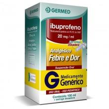 Ibuprofeno 20mg/ml Suspensão Oral 100ml Genérico Germed