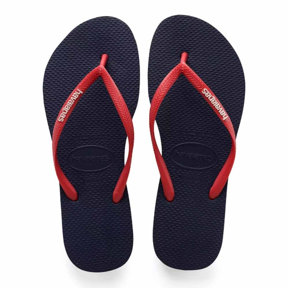 1fa1bfa6a0 Comprar Sandália Havaianas Slim Logo Pop Up Marinho vermelho