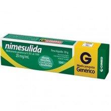 Nimesulida 20 Mg Gel - Cimed - Genérico C/ 30g