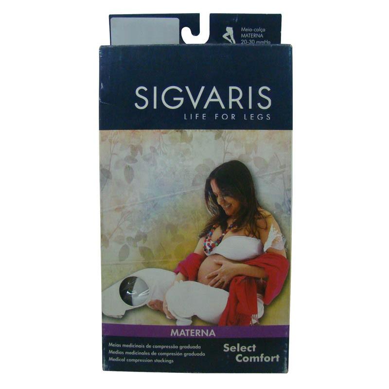 d0ab3b687 Meia Elástica Sigvaris Select Comfort At Materna Tamanho Pequena Normal  Feminina Cor Bege Compressão 30-. 20%