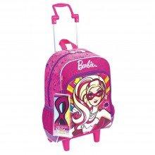 Mochila Escolar de Rodinha Barbie Super Princesa