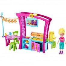 Playset Com Boneca Polly Pocket Churrasco Divertido Mattel Ref- Dnb53