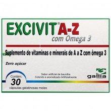 Excivit Az Com ômega 3 Com 30 Cápsulas - Gallia