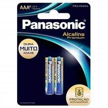 Pilha Panasonic Alcalina Premium Aaa Com 2 Unidades
