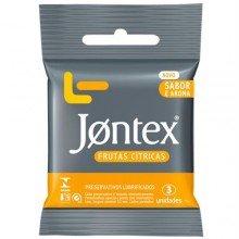 Preservativo Jontex Frutas Cítricas Com 3 Unidades
