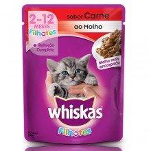Sachê Para Gatos Whiskas Carne Ao Molho Para Filhotes 85g