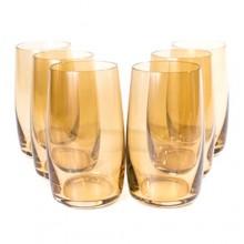 Jogo de Copos Long Drink Ambar Com 6 Unidades Bohemia Ref-57726